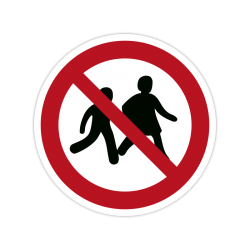 Verbotszeichen P036 Kinder...